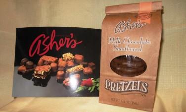 ashersmilkchocolatesmotheredpretzels
